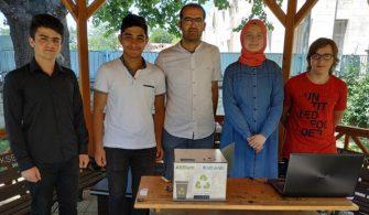 Liselilerden çevre kirliliğine karşı atık pil ünitesi